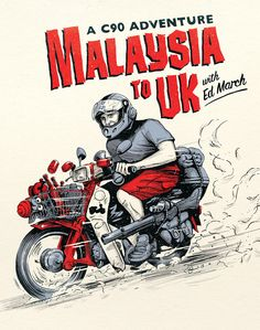 Ed March's Malaysia to UK DVD. Illustration and logo design by Adi Gilbert (99seconds.com)