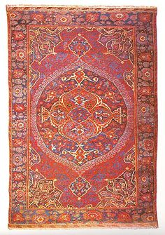 "TurkoTek Discussion Forum.  ""The piece directly above measures 9' 9"" X 6' 6"" (297 X 198 cm). It is approximately the size of the second Ushak in Dennis' exhibition, ARG 31, estimated to have been woven in the 18 century."""