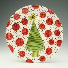 pottery painting plate ideas christmas - Google Search