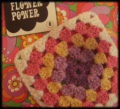 #crochet #grannysquare #craft #flowerpower #yarn