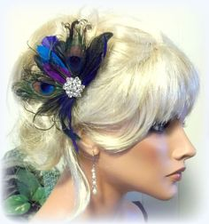 Peacock Bridal Fascinator Wedding Hair Clip by kathyjohnson3, $48.00