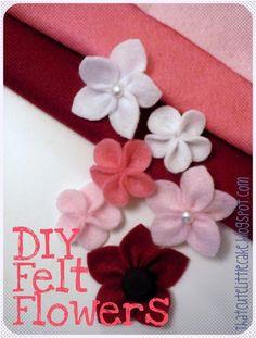 {Craft} DIY flores de feltro | esse bolo pequena bonito