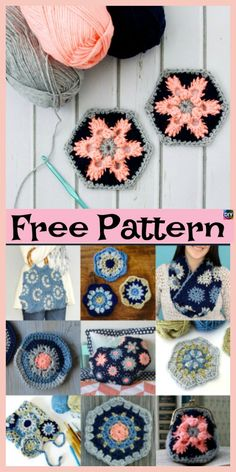 Crochet Granny Squares Design Beautiful Crochet Granny Squares - Free Patterns - These crochet granny squares are pretty and very simple project to crochet.You could crochet them together and make a very colorful blanket or something Crochet Flower Squares, Crochet Squares Afghan, Crochet Sunflower, Crochet Flower Tutorial, Granny Square Crochet Pattern, Afghan Crochet Patterns, Crochet Granny, Granny Squares, Crotchet Stitches