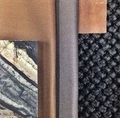 Mim DesignStudio material board - copper + marble love Colorful Interiors, Colorful Interior Design, Copper Material, Material Board, Colour Pallete, Colour Board, Decoration, Color Trends, Dedar Fabric