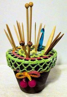 Милые сердцу штучки: Аксессуары для вязания: Креативная идея для хранения спиц от Pirjo Sinervo
