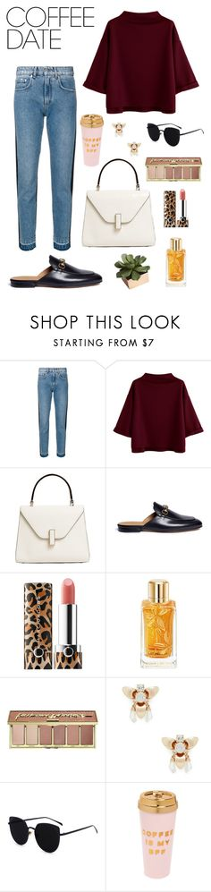 """""""Coffee Date"""" by alcdance1 ❤ liked on Polyvore featuring MSGM, Valextra, Gucci, Sephora Collection, Lancôme, tarte, Sole Society, ban.do, CB2 and Minimalist"""