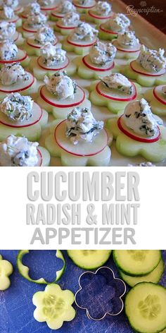 Easy cucumber, radish and mint appetizer