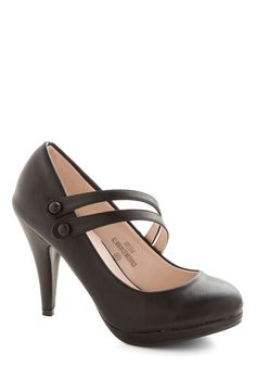 A New Spin Heel in Black, #ModCloth