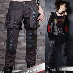 Plus Size Available Cyber Goth Punk Rock Clothes Pants & Shorts SKU-11404015