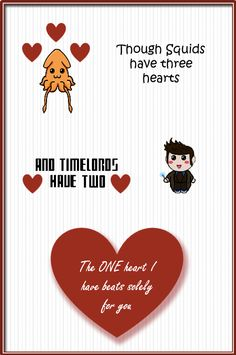 The One Heart I have by AlwaysLoveLorn on DeviantArt Doctor Who Valentines, Nerdy Valentines, Valentine Day Cards, All You Need Is Love, My Love, Thinking Of Someone, Dr Who, My Guy, The One
