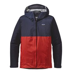 Patagonia Men's Torrentshell Jacket | Navy Blue w/Ramble Red  http://www.patagonia.com/product/mens-torrentshell-rain-jacket/83802.html?dwvar_83802_color=NBRR&cgid=mens-jackets-vests#tile-24=&start=1&sz=48