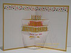 Cartes d'anniversaire Fête en 3-D intérieur