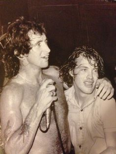 Bon Scott and Angus Young - AC/DC