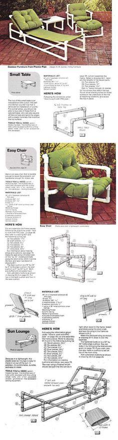 Летняя мебель из пластиковых труб...<3 Deniz <3