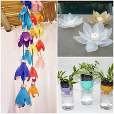 10 creative ways to upcycle your plastic bottles These DIY projects will have you see plastic bottles in completely new ways. Plastic Bottle Tops, Plastic Bottle Crafts, Recycle Plastic Bottles, Plastic Containers, Handmade Crafts, Diy Crafts, Pet Bottle, Bottle Caps, Beautiful Candles