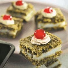 LEBANESE RECIPES: Pistachio Mafruka with Cream Recipe