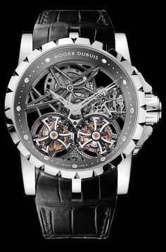 Roger Dubois Excalibur Skeleton Double Flying Tourbillon Watch   @DestinationMars