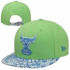 New Era Chicago #Bulls Project Ostrich #9FIFTY #Vize Snake Adjustable Hat - Neon Green $33.95