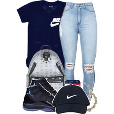 A fashion look from September 2014 featuring NIKE shoes, MCM backpacks and NIKE hats. Browse and shop related looks.