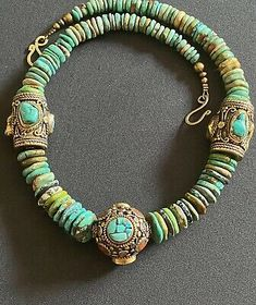 Bohemian Necklace, Tribal Necklace, Boho Jewelry, Jewelery, Handmade Jewelry, Chunky Necklaces, Tibetan Jewelry, Unusual Jewelry, Coral Turquoise