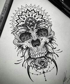 Mandala skull art
