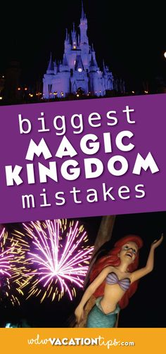Since there is so much to do it really feel like it's impossible to accomplish everything in one day. In order to help your day be a little more magical we are spilling the beans on what we feel are the biggest Magic Kingdom mistakes people make. Disney World Planning, Disney World Vacation, Disney Cruise Line, Disney World Resorts, Disney Vacations, Walt Disney World, Disney Parks, Disney Travel, Magic Kingdom Food