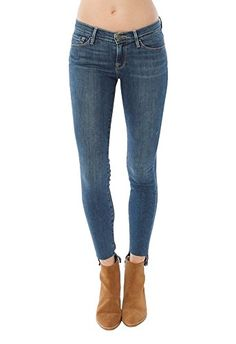 FRAME Frame Denim Le Skinny De Jeanne Raw Stagger. #frame #cloth #