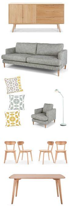 Je vous ai déjà parlé de Made.com dernièrement en vous présentant de jolis fauteuils rétro. Made.com ne fait pas que des fauteuils et canapés vintage, la boutique propose des meubles, des luminaires, de la déco, des tapis,... Voici donc une petite sélection pour une jolie déco scandinave rétro ! Buffet Jenson : 729€ - 1250€…