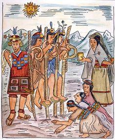 Wamam Poma - Geboren rond 1535, gestorven  na 1616. Hij mengde zich in de discussie die tevergeefs de Spaanse koning probeerde te bereiken, door iets aan de discussie toe te voegen.