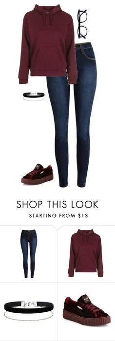"""""""eh"""" by letal25 ❤ liked on Polyvore featuring Topshop, Miss Selfridge and Puma"""