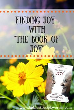 """Babies to Bookworms offers a review of """"The Book of Joy"""" by the Dalai Lama, Archbishop Desmond Tutu and Douglas Abrams. To start finding joy, check it out!"""