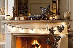 Muebles vestidos y decorados para Navidad