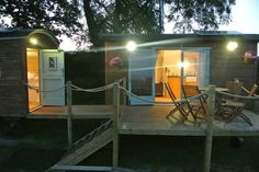 Our shepherds huts are even more beautiful at night. www.sugarloafbarn.com