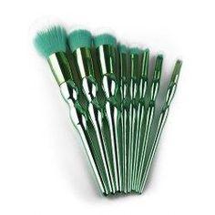 #trendsgal.com - #Trendsgal 8Pcs Plated Calabash Design Handle Makeup Brushes Set - AdoreWe.com