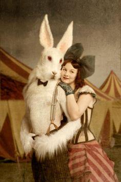 Weird vintage circus photo