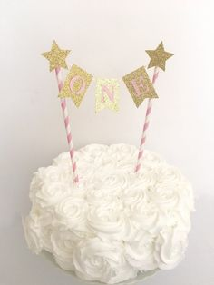 1st Birthday Cake Topper ~Pink and Gold First Birthday~Twinkle Twinkle Little Star Cake Topper~ Smash Cake Topper ~ First Birthday