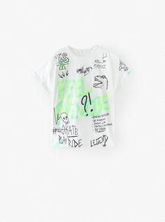 Cross Faded All Over Print T-Shirt Dress Logo Princess