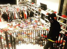 Chris Brown: Shows off Room full of Sneakers and Clothes. see pics Chris Brown House, New Chris Brown, Breezy Chris Brown, Celebrity Sneakers, Celebrity Closets, Celebrity Style, At Home Movie Theater, Sneaker Games, Instagram Snap