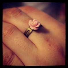 Flower ring via WishStrings. Click on the image to see more!