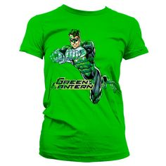 Green Lantern Distressed Girly T-shirt