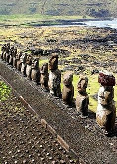 Rapa Nui, the indigenous name of Easter Island. A society of Polynesian origin that settled there c. A.D. 300 established an original tradition of monumental sculpture and architecture, free from any external influence. From the 10th to the 16th century this society built shrines and erected enormous stone figures known as moai.