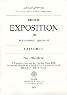 Il catalogo della prima mostra impressionista.