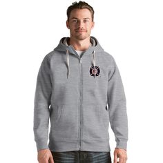 Men's Antigua Chicago Fire Victory Full-Zip Hoodie, Size: Medium, Grey