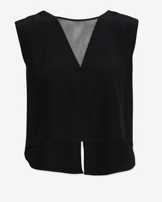 Chelsea Flower Crop Top with Mesh Inset #exclusive at @INTERMIX