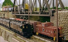 Milw Rd & NP Freights Meet Below ArmstrongPSE