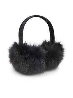 The perfect last minute gift for her ... Fox Fur Earmuffs from Saks Off 5th