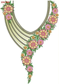Hand Embroidery Design Patterns, Embroidery Suits Design, Machine Embroidery Applique, Free Machine Embroidery Designs, Embroidery Fashion, Indian Embroidery Designs, Jewelry Design Drawing, Hand Work Blouse Design, Jewelry Art