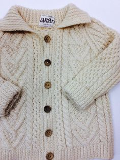 Kids irish sweater kids fisherman sweater by ProjectObjectVintage