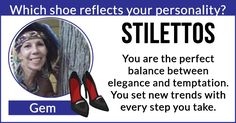 Which shoe reflects your personality?