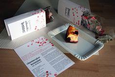Cheesecake-Brownies mit Himbeeren inkl. Tee und Kaffee für einen gemeinsamen netten Freundinnen-Plausch